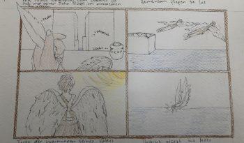 Comic: Dädalus und Ikarus